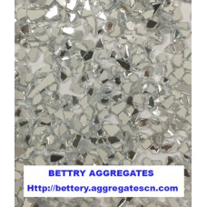 White mirror glass aggregate