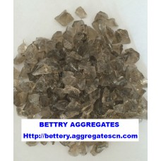 Gray glass aggregate